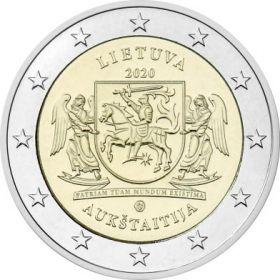 Аукштайтия 2 евро  Литва 2020 Серия регионы Литвы
