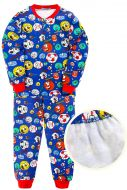 """Пижама с начесом для мальчика 7-10 лет Bonito kids """"Football"""" темно-синяя"""