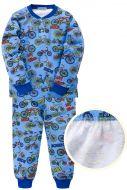 """Пижама с начесом для мальчика 7-10 лет Bonito kids """"bicycles"""" синяя"""