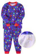 """Пижама для мальчика 7-10 лет Bonito kids """"""""Moto"""" синяя"""