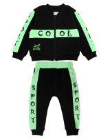 """Спортивный костюм для новорожденных Bonito """"Cool"""" черный"""