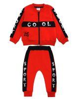 """Спортивный костюм для новорожденных Bonito """"Cool"""" красный"""