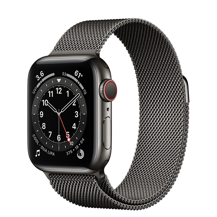 Apple Watch Series 6 GPS 44mm Graphite Stainless Steel Case with Milanese Loop