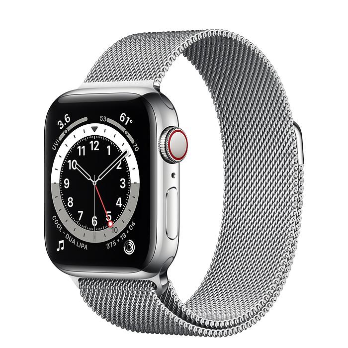 Apple Watch Series 6 GPS 40mm Silver Stainless Steel Case with Milanese Loop