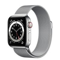 Apple Watch Series 6 GPS 40mm Silver Stainless Steel Case with Milanese Loop