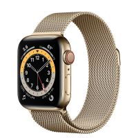 Apple Watch Series 6 GPS 44mm Gold Stainless Steel Case with Milanese Loop