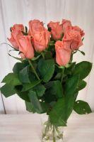 11 оранжевых роз (60 см)