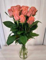 15 оранжевых роз (60 см)