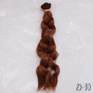 Трессы для создания причеcки куклам - Волны коса каштановый 25 см