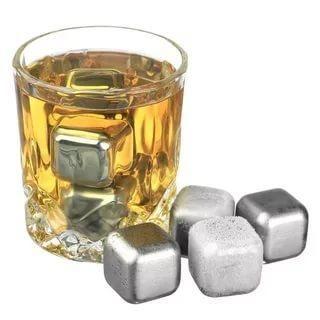 Камни для виски (набор 6шт) из нержавеющей стали Kamille