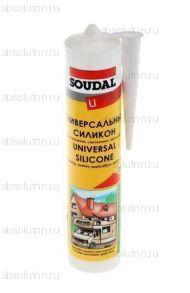 Герметик силиконовый SOUDAL универсальный бесцветный 300 мл