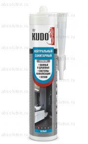 Герметик силиконовый KUDO нейтральный санитарный белый 280 мл