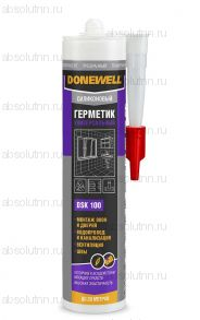 Герметик силиконовый DONEWELL универсальный прозрачный 260 мл