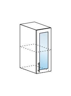Шкаф верхний со стеклом Юлия ШВС 300