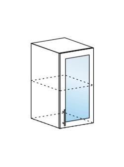 Шкаф верхний со стеклом Юлия ШВС 400