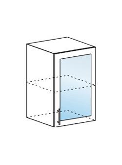 Шкаф верхний со стеклом Юлия ШВС 500