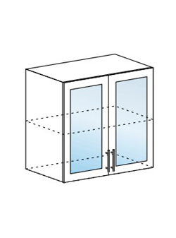 Шкаф верхний со стеклом Юлия ШВС 800