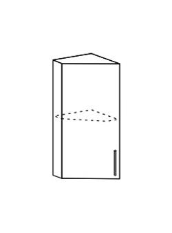 Шкаф верхний торцевой Юлия ШВТ 300