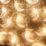 Гирлянда МЕСЯЦ со ЗВЕЗДАМИ 15 лампочек 381-61