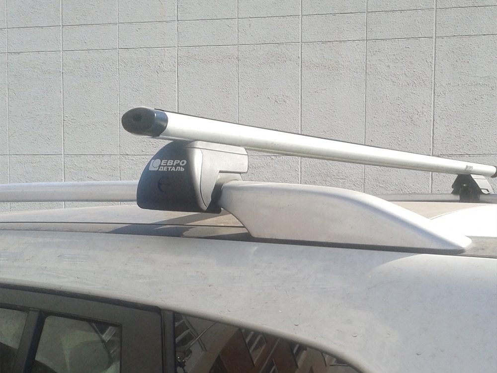 Багажник на крышу - аэродинамические дуги на рейлинги Renault Koleos 2008-16, Евродеталь