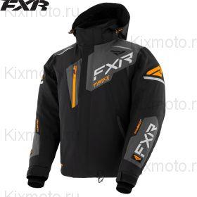 Куртка FXR Renegade FX, Черно-серо-оранжевая