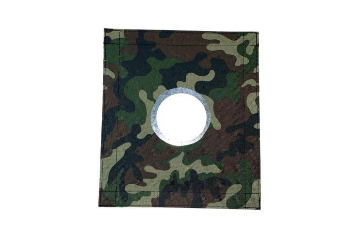Окно-Разделка для онка палатки Снегирь под трубу 70 мм из метала с нейлоновым кожухом