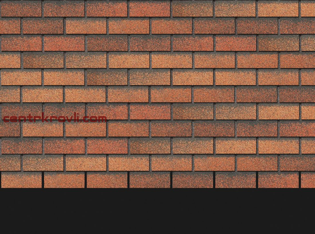 Фасадная черепица Docke Premium Коллекция Brick (Клубника)