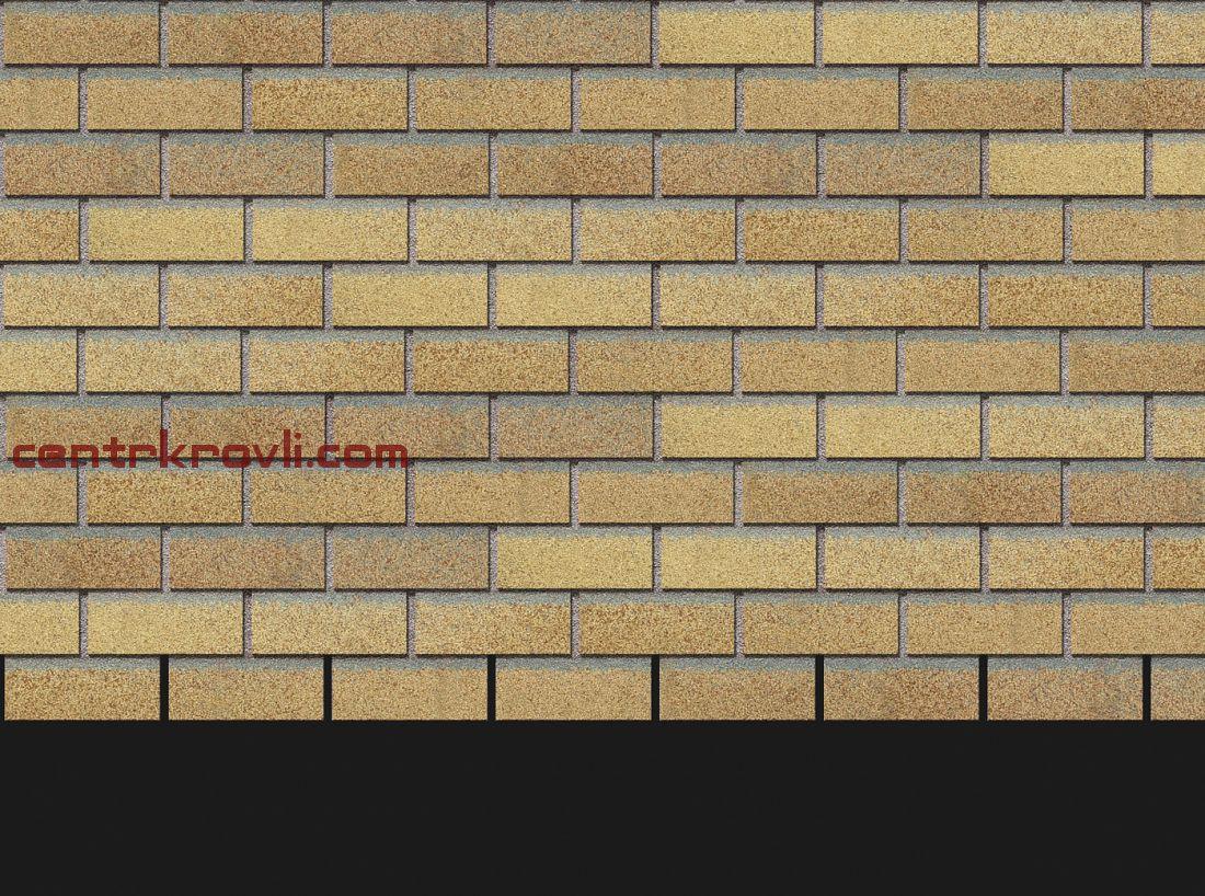 Фасадная черепица Docke Premium Коллекция Brick (Янтарный)