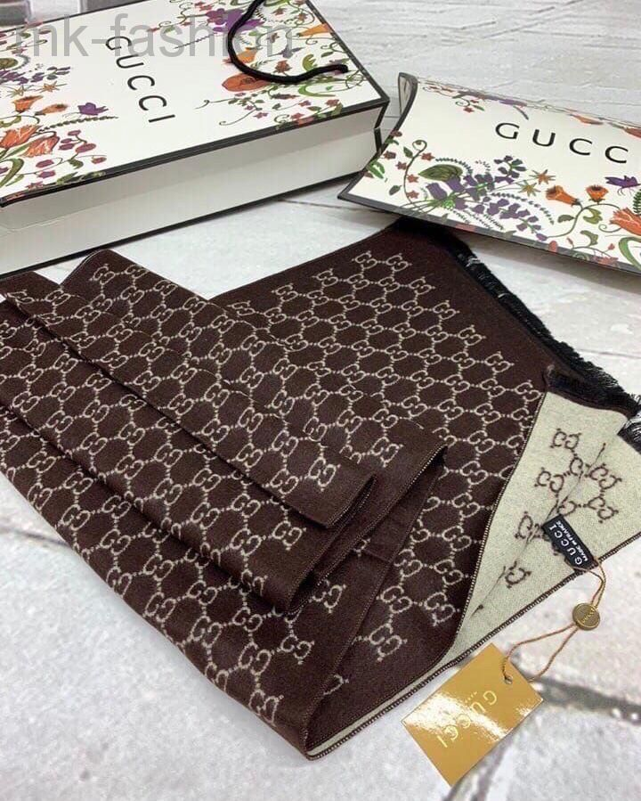 Gucci шарф коричневый