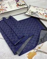 Gucci шарф синий