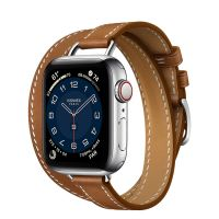Apple Watch Hermes Series 6 40mm Stainless Steel GPS + Cellular Attelage Double Tour