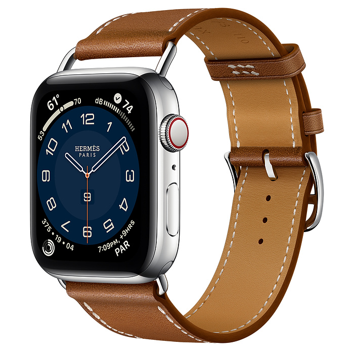 Apple Watch Hermes Series 6 44mm Stainless Steel GPS + Cellular Attelage Single Tour