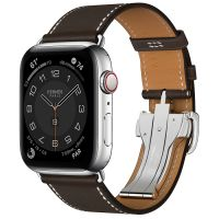 Apple Watch Hermes Series 6 44mm Stainless Steel GPS + Cellular Ébène Single Tour Deployment Buckle