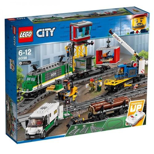 Электромеханический конструктор LEGO City 60198 Грузовой поезд