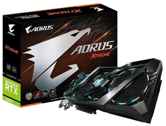 GIGABYTE AORUS GeForce RTX 2080 Ti 1770MHz PCI-E 3.0 11264MB 14140MHz 352 bit 3xHDMI 3xDisplayPort HDCP XTREME