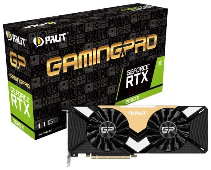 Palit GeForce RTX 2080 Ti 1350MHz PCI-E 3.0 11264MB 14000MHz 352 bit 3xDisplayPort HDMI HDCP GamingPro
