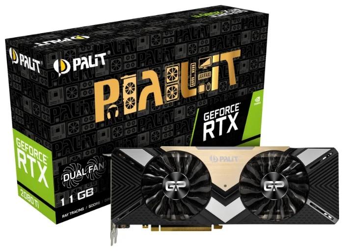 Palit GeForce RTX 2080 Ti 1350MHz PCI-E 3.0 11264MB 14000 МГц 352 bit HDMI 3xDisplayPort HDCP Dual