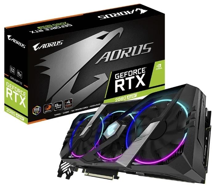 GIGABYTE GeForce RTX 2080 SUPER 1860MHz PCI-E 3.0 8192MB 15500MHz 256 bit 3xHDMI HDCP AORUS