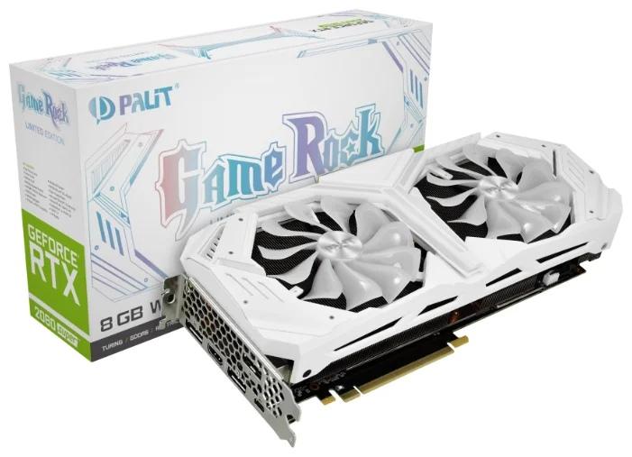 Palit GeForce RTX 2080 SUPER 1650MHz PCI-E 3.0 8192MB 15500MHz 256 bit 3xDisplayPort HDMI HDCP White GameRock Premium