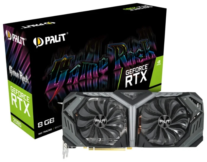 Palit GeForce RTX 2080 1515MHz PCI-E 3.0 8192MB 14000MHz 256 bit HDMI HDCP GameRock