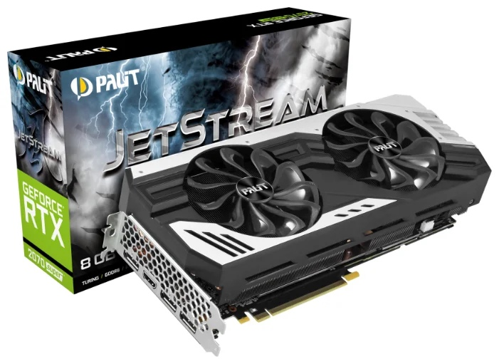 Palit GeForce RTX 2070 SUPER 1605MHz PCI-E 3.0 8192MB 14000MHz 256 bit HDMI 3xDisplayPort HDCP JetStream