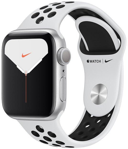 Apple Watch Nike Series 5, 44 мм черные/платина