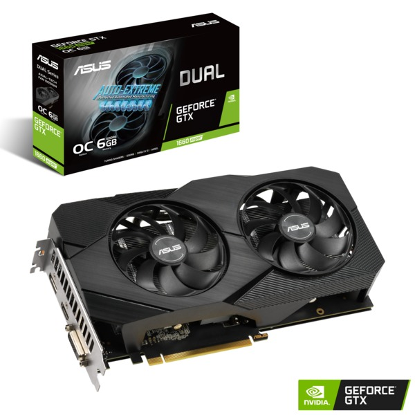 Asus Dual GeForce GTX 1660 SUPER 6GB OC EVO