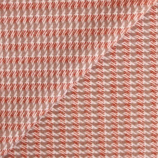 Ткань трикотажная - Драп рисунок на бежевом 50х40