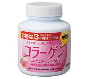 ORIHIRO Most жевательный коллаген со вкусом персика на 90 дней