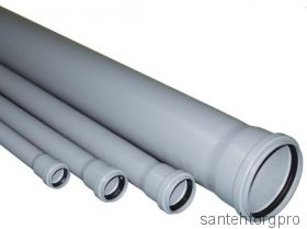 Труба канализационная ПП с раструбом 40х1500мм