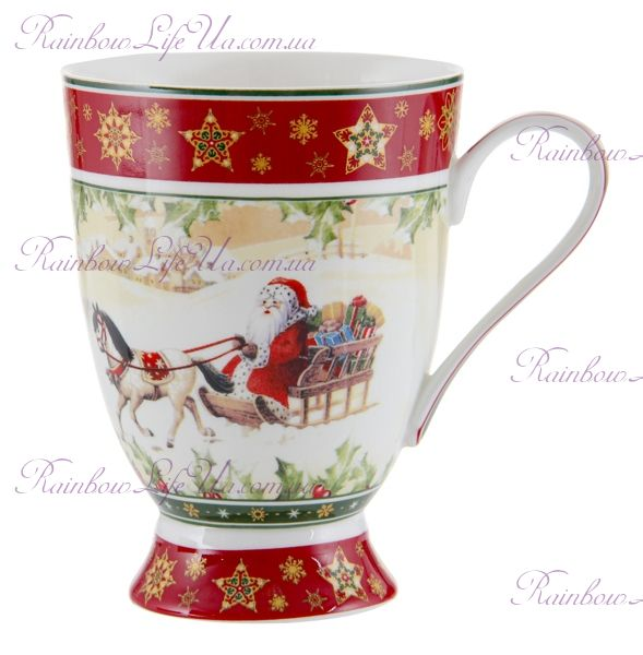 "Кружка Санта на коне Christmas Collection 300 мл ""Lefard"""