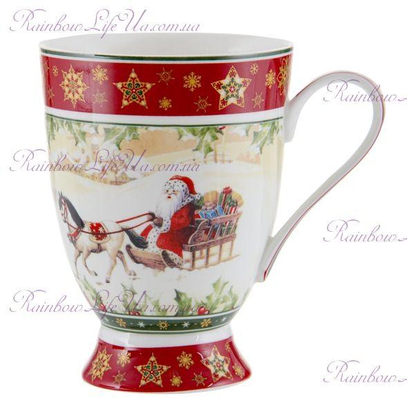 "Кружка Санта на коне Christmas Collection 300 мл ""Lefard"""