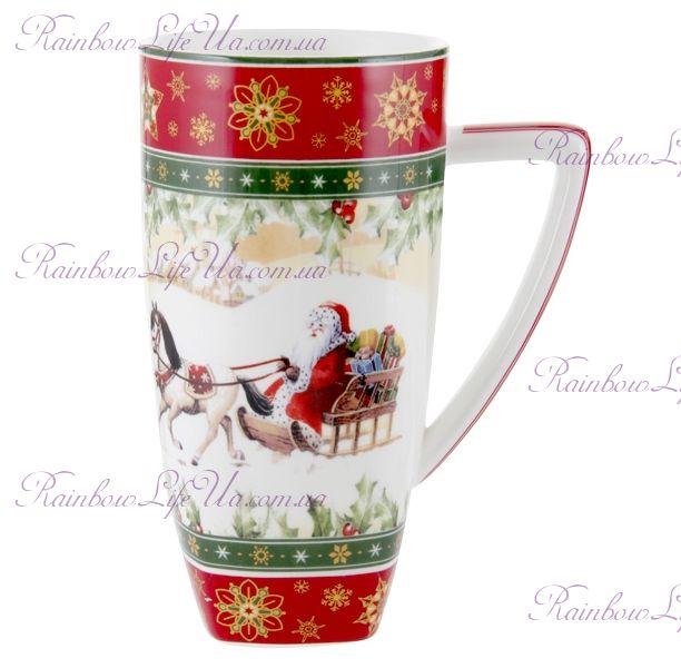 """Кружка новогодняя Санта на коне 850 мл """"Lefard"""""""