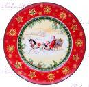 """Набор новогодних тарелок Санта на коне 6 шт """"Lefard"""""""